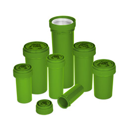 Reversible Cap Vials Opaque Green